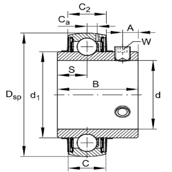 UC 206 Radial Insert Ball